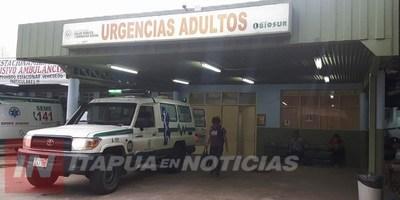 ACCIDENTE SOBRE LA RUTA 8 DEJA DOS HERIDOS GRAVES EN CNEL. BOGADO.