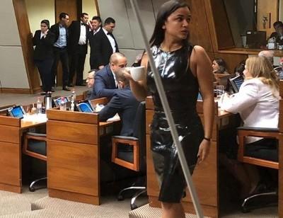 Críticas contra el llamativo vestido que lució una legisladora