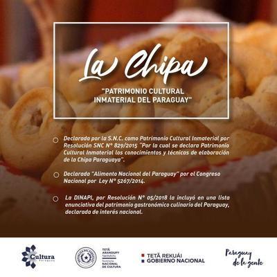 Cultura remitió a Unesco nota referente a la publicación sobre la chipa