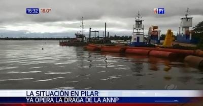 Draga de la ANNP funciona nuevamente en Pilar