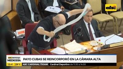 Payo Cubas pide interpelar a Benigno López
