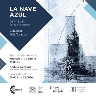 """Muestra """"La Nave Azul"""" presentará obras de Jenaro Pindú"""