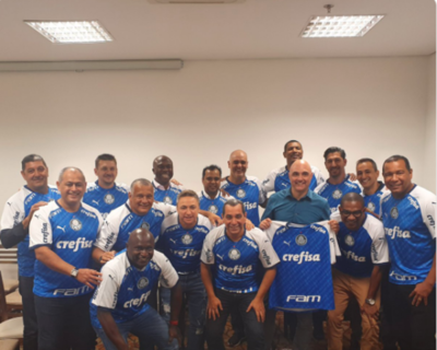 Los paraguayos homenajeados por Palmeiras