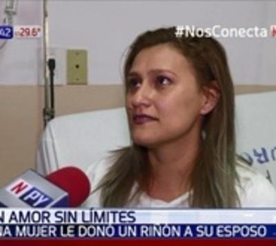 Gran gesto de amor: Mujer donó un riñón a su marido