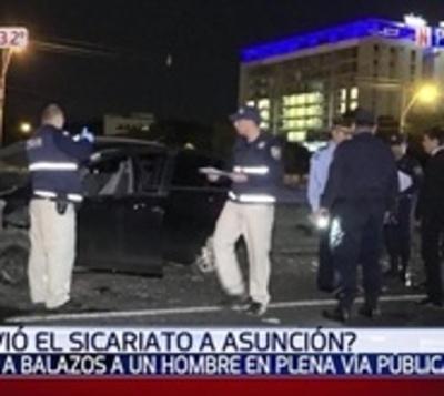 Asesinaron a balazos a un hombre en Asunción
