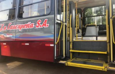Destacan que 25% de la flota de buses de la empresa Caacupeña son inclusivos