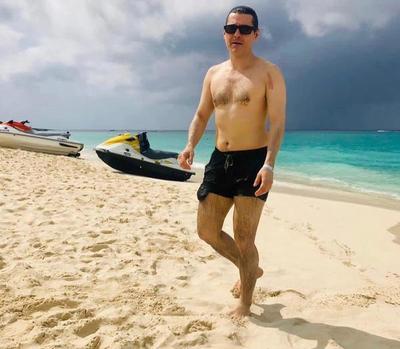Las vacaciones de Camilo Soares en el Caribe