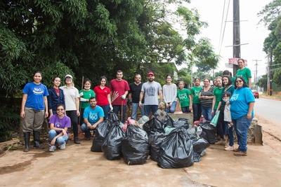 Más de 700 kilos de basura retirados del arroyo Paí Ñu de Ñemby