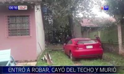 Ladrón muere tras caer de techo