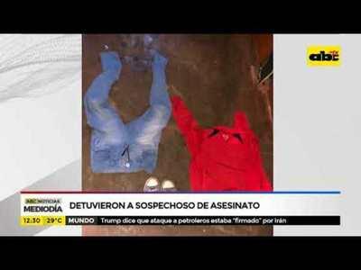 Detuvieron a sospechoso de asesinato