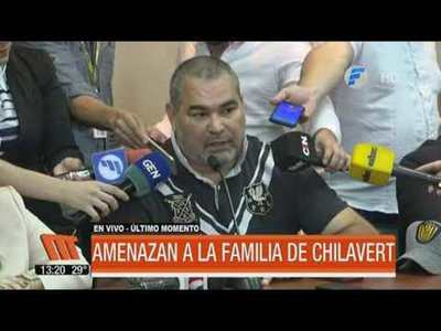 Amenazan de muerte a la familia Chilavert