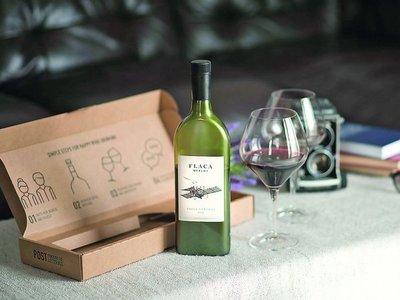 Botellas de vino planas