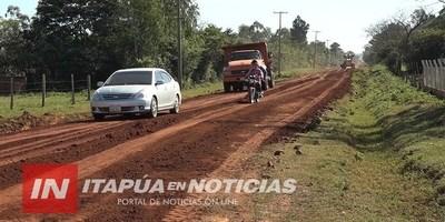 INTERVENCIÓN DE CAMINOS CONTRIBUYE AL DESARROLLO DE LAS COMUNIDADES DE ITAPÚA.