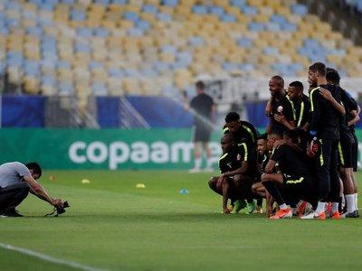 Catar comienza su último entrenamiento con una fotografía en el Maracaná