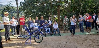 Habilitan espacios turísticos inclusivos en serranías del Ybyturuzu