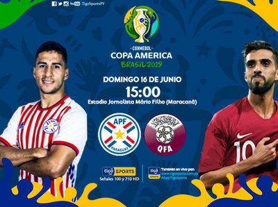 Paraguay enfrenta a Catar, debutando en la Copa América