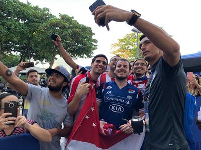 La Albirroja partió rumbo al Maracaná