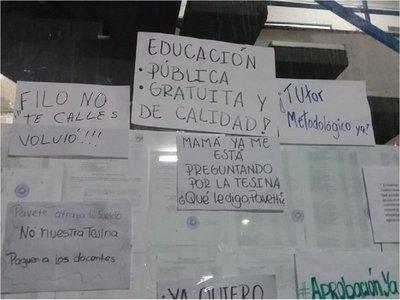 Estudiantes de Filosofía denuncian supuesta mala gestión del decano Pavetti