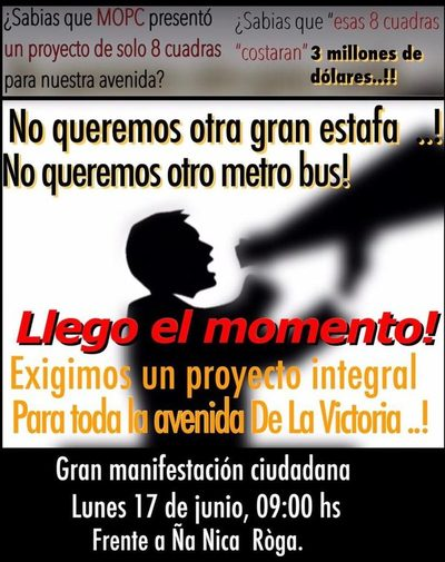 """Reducto: Manifestación de """"No queremos otro Metrobus"""""""