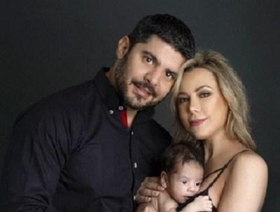 """Con una espectacular producción de fotos, Lizarella Valiente deseó """"feliz día del padre"""" a Nenecho Rodríguez"""