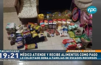 HOY / Presta atención médica a domilicio a cambio de víveres para familias pobres