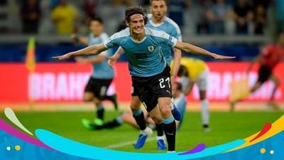 Uruguay gana, gusta y golea