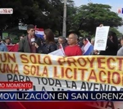 San Lorenzo: Piden que el MOPC cumpla con su promesa