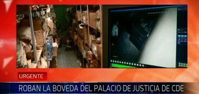 Robo en bóveda del Palacio de Justicia