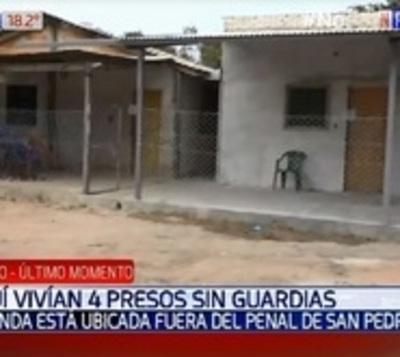 San Pedro: Allanan vivienda donde vivían cuatro reclusos