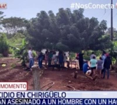 Asesinan a machetazos a hombre en colonia Chirigüelo