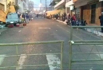 Bloqueos en el centro por manifestación