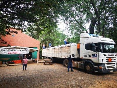 Colectan 40.000 kilos de víveres para damnificados del Chaco