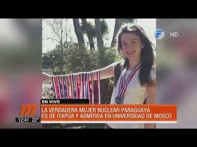 Joven paraguaya estudiará Física Nuclear en Moscú