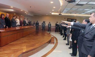 Jueces y agentes fiscales tomaron juramento ante la Corte