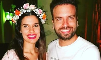 Marcelo Jara y su señora felices en la espera de Anastasia María Candela