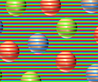 Ilusión óptica: ¿De qué color son las esferas?