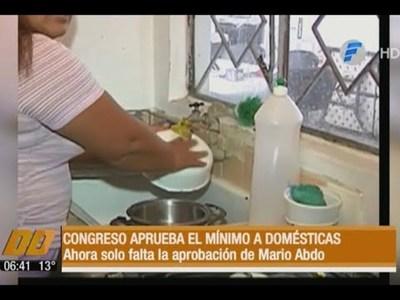 Congreso aprueba el salario mínimo a trabajadoras domésticas