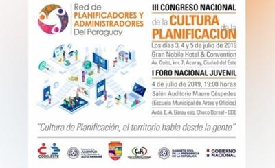 III Congreso Nacional de Cultura de la Planificación será en CDE