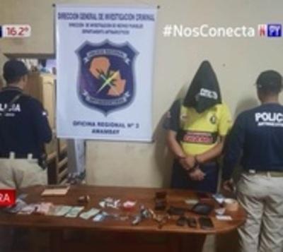 Detienen a presunto microtraficante en Pedro Juan Caballero