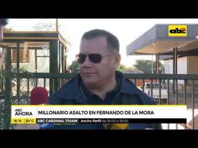 Millonario asalto en Fernando de la Mora