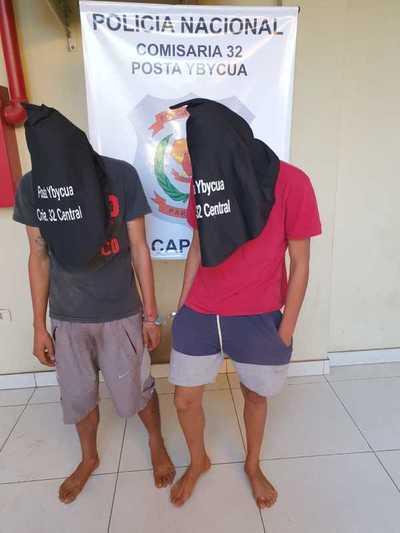 Incidentes en detención de supuestos microtraficantes en Capiatá