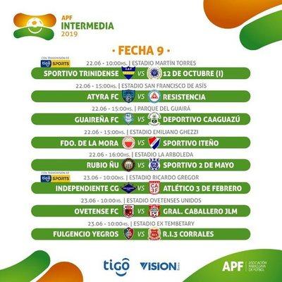 La novena fecha de la Intermedia arranca mañana
