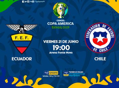 Ecuador y Chile cierran la segunda fecha de la fase de grupos