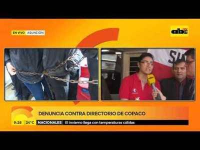 Denuncia contra directorio de Copaco
