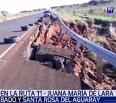 Ruta presenta destrozos a un año de su inauguración