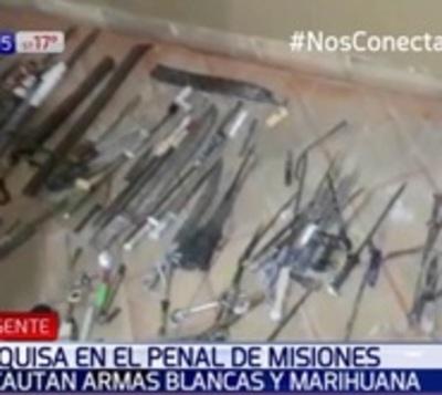 Decenas de cuchillos hallaron en celdas de la cárcel de Misiones