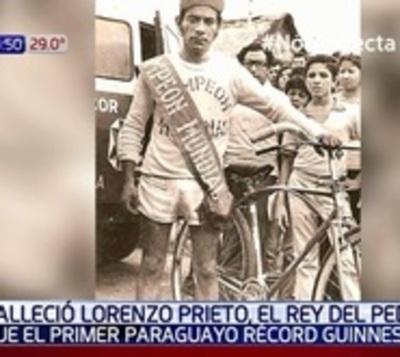 Fallece Lorenzo Prieto, 'Rey del Pedal'