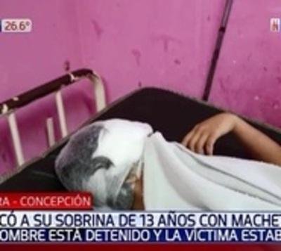 Hombre fue detenido tras herir a su sobrina con un machete