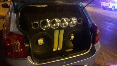 Incautan vehículo por polución sonora
