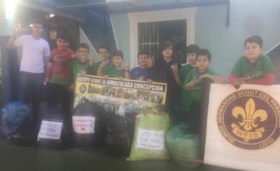 Grupo Scout Inmaculada Concepción se solidariza con los pilarenses
